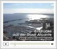 Video mit Eindrücken der Stadt Alikante in Spanien