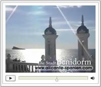 Video mit Impressionen der Stadt Benidorm in Spanien