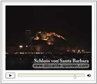 Video: Schloss von Santa Barbara über den Dächern von Alicante